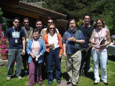 Con Richard Stallman